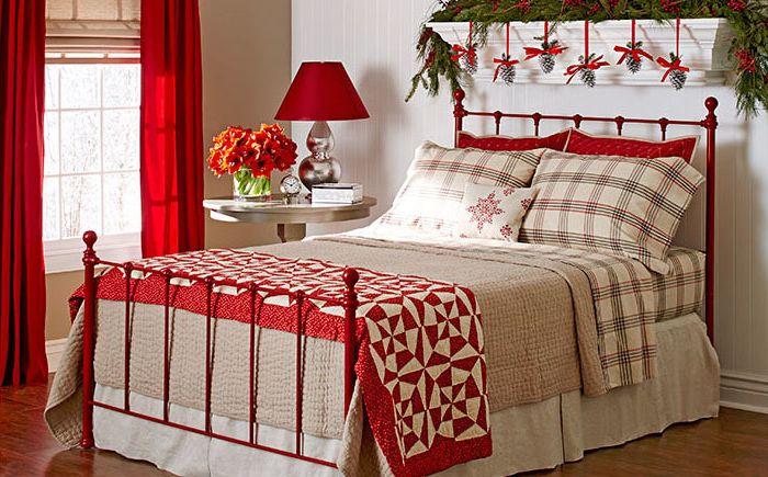 Iloiset makuuhuoneet uudenvuoden tunnelmalla
