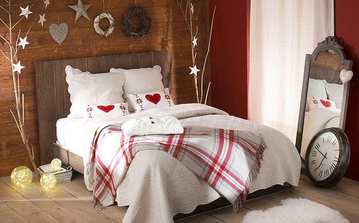 Uudenvuoden makuuhuone maalaismaiseen tyyliin