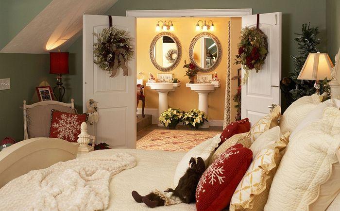 Lori Currier Interiorsin uudenvuoden makuuhuone