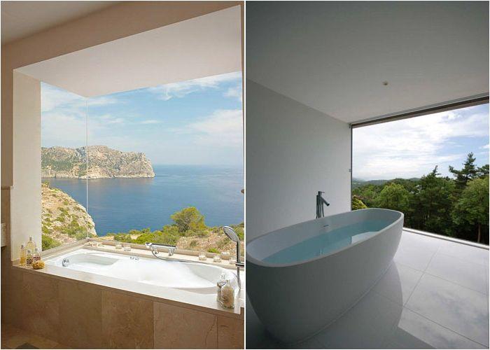 Луксозни бани с панорамна гледка