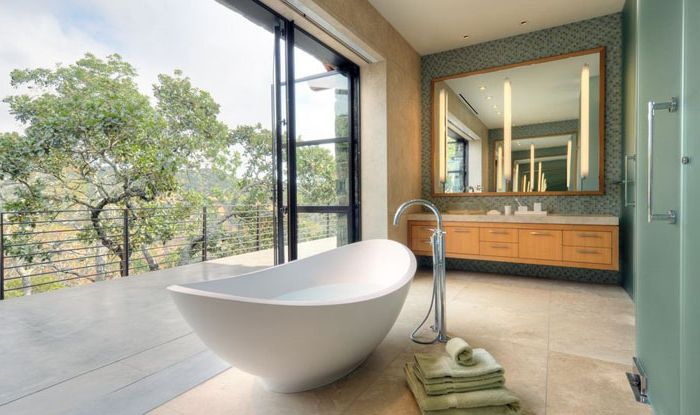 Интерьер ванной в современном виде