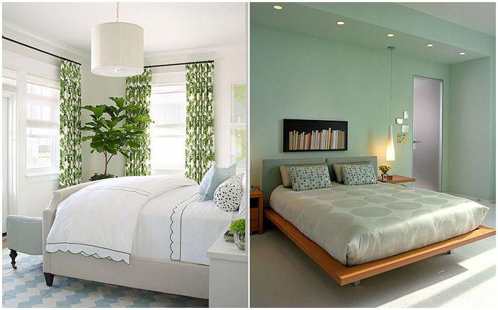 Levende farge: 25 fantastiske grønne soverom