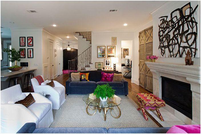 Интериор на хола от Sally Wheat Interiors