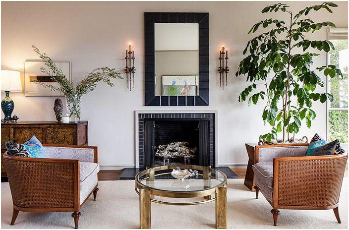 Интериор на хола от интериорен дизайн Cheryl Burke