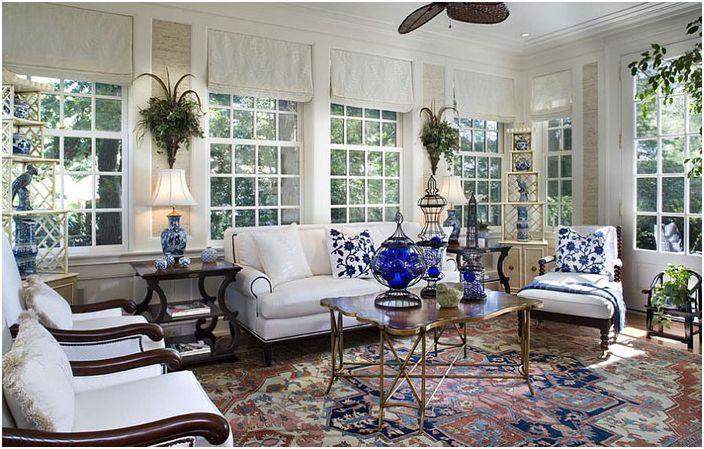Интериор на всекидневната от Diane Burgoyne Interiors