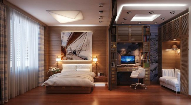 Спалня + кабинет-666