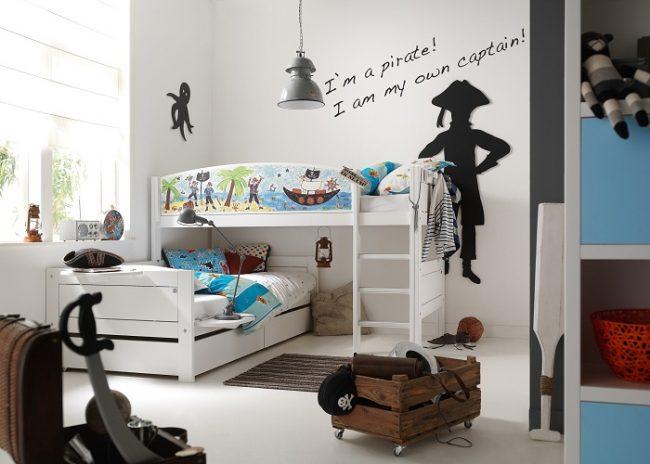 Двухъярусная кровать для детей-666