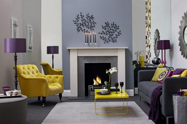 Fireplace in the interior: 100 best ideas for the living room-dizainall-222