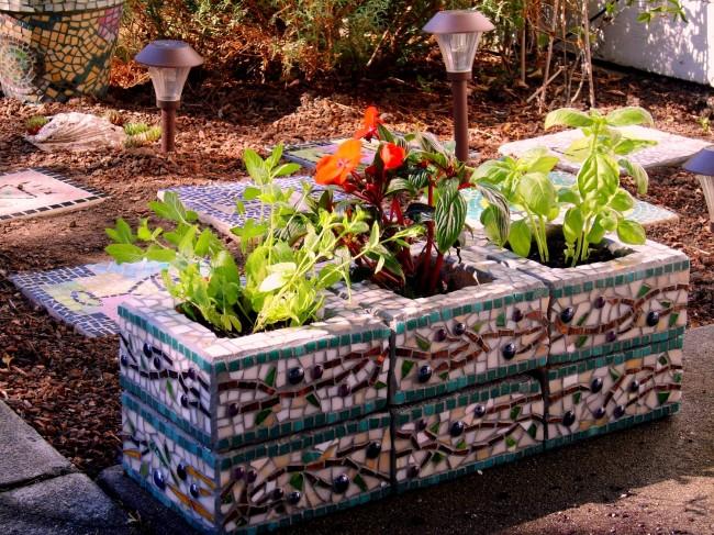 Градина - саксии за цветя - най-добрите идеи-3