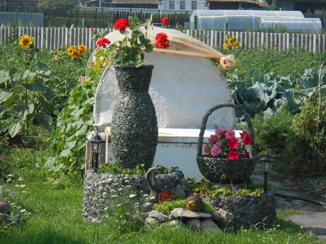 Градина - саксии за цветя - най-добрите идеи-555