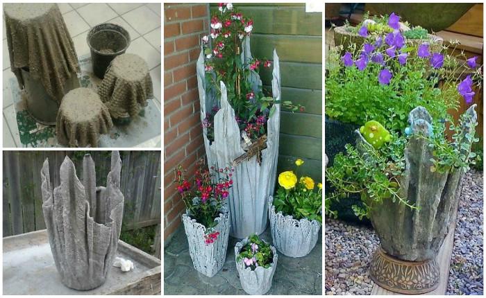 Градина - саксии за цветя - най-добрите идеи-666