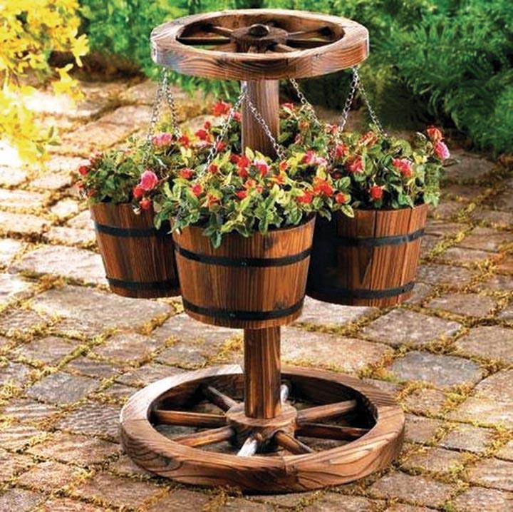 Градина - саксии за цветя - най-добрите идеи-777