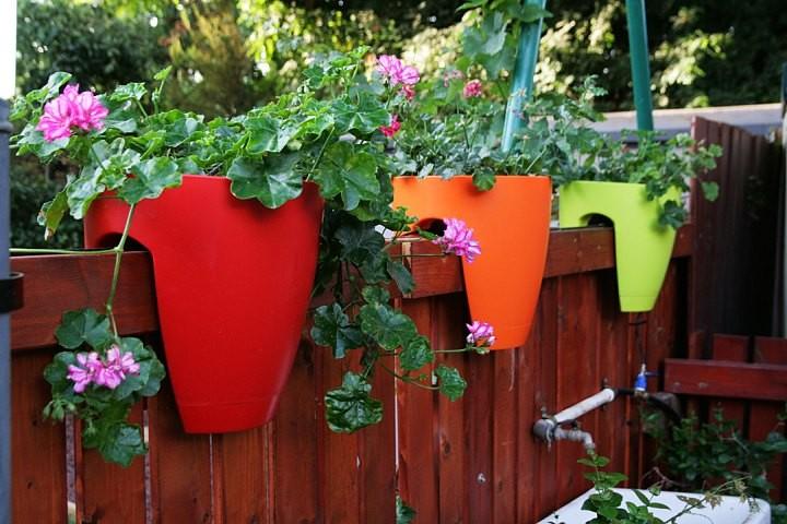 Градина - саксии за цветя - най-добрите идеи-8