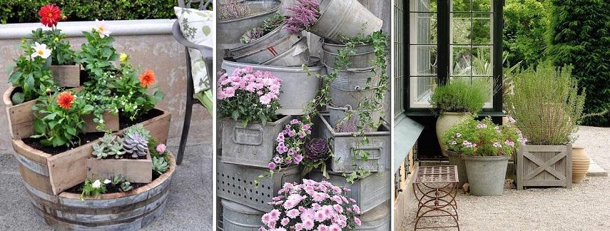 Градина - саксии за цветя - най-добрите идеи-999