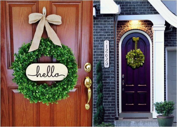 Привлекательный дизайн входной двери.