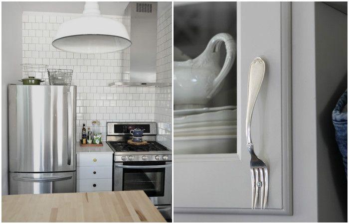 Необичайни дръжки за кухненски мебели.