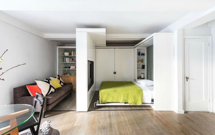 Nawet mała sypialnia może być wygodna i stylowa.