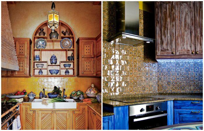 Marokkolainen tyyli keittiön sisustuksessa.