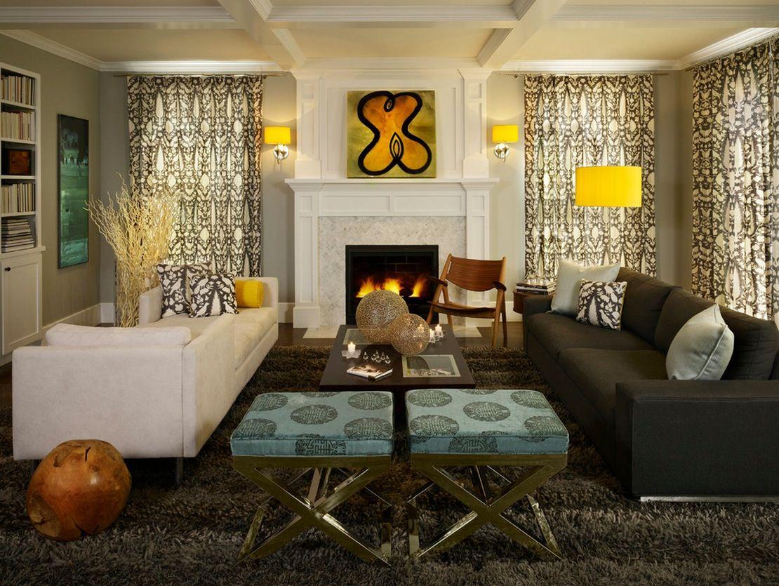 Удивительные светильники в интерьере гостиной