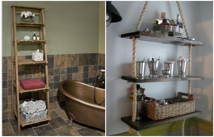 Необичайни рафтове ще преобразят интериора на банята.