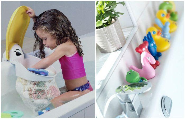 Къпането с играчки се превръща от хигиенна процедура в удоволствие за детето.