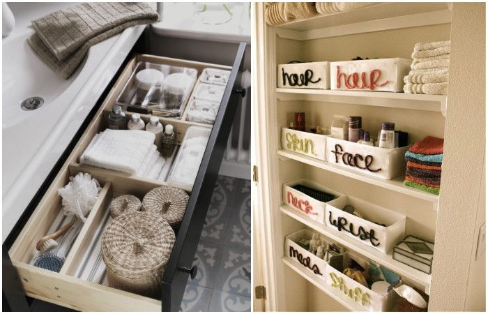Подреждането на нещата в кутии е чудесно решение, което спестява време за намиране на правилните неща.