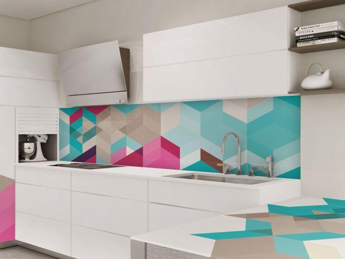 Абстрактна рисунка върху кухненска престилка.