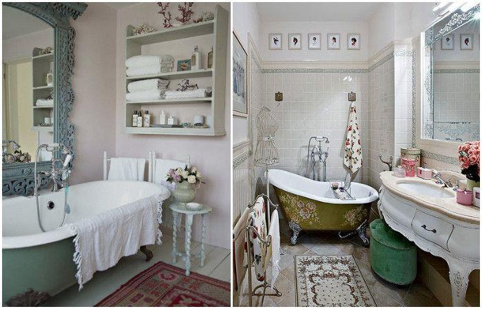 Romantyczne łazienki.