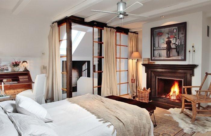 Мини-гостиная в спальне.