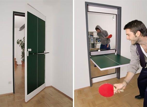 Дверь-трансформер для игры в настольный теннис