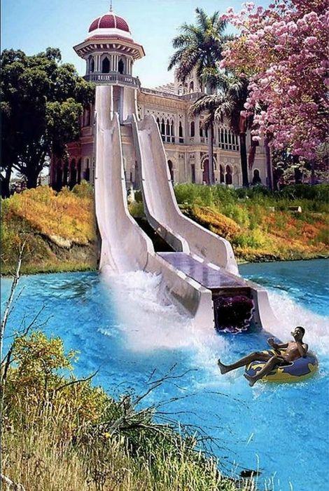 Собственный аквапарк.
