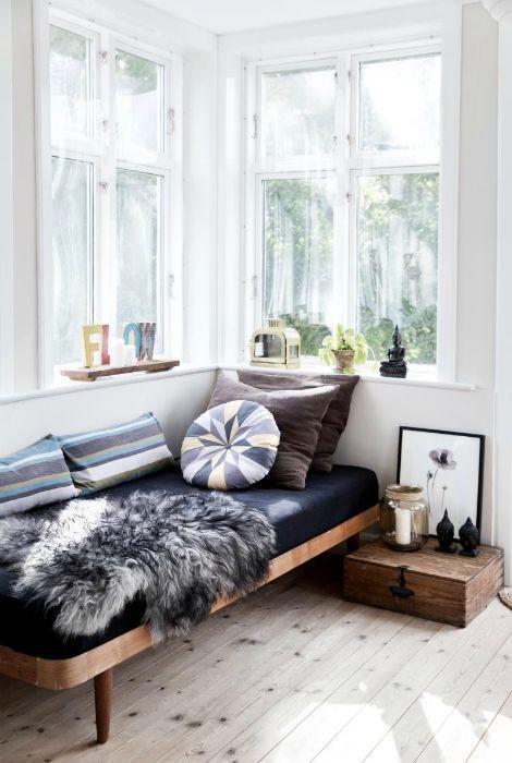 Miejsce do wypoczynku w stylu skandynawskim.
