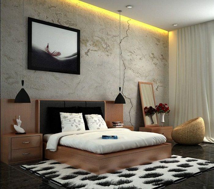 Крутое решение преобразить интерьер спальни скрытым освещением.