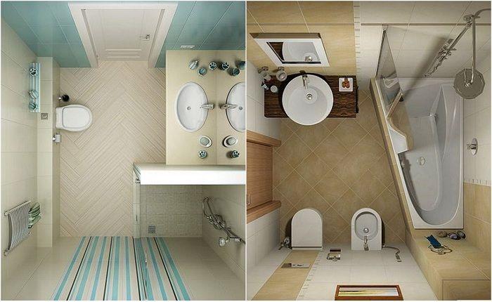Идеи для оформления маленькой ванной комнаты.