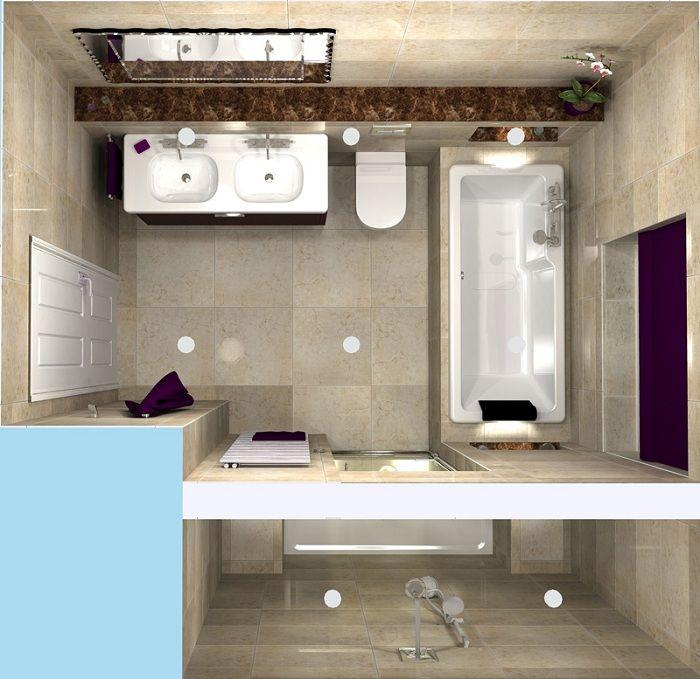 Чтобы зрительно увеличить пространство в ванной комнате стоит задуматься о правильном освещении.