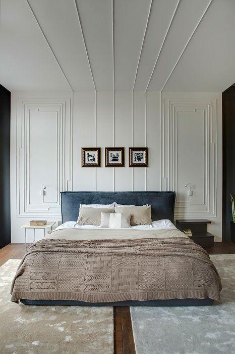 Интересна декорация на стени в спалнята, която ще придаде допълнителен уют и комфорт.