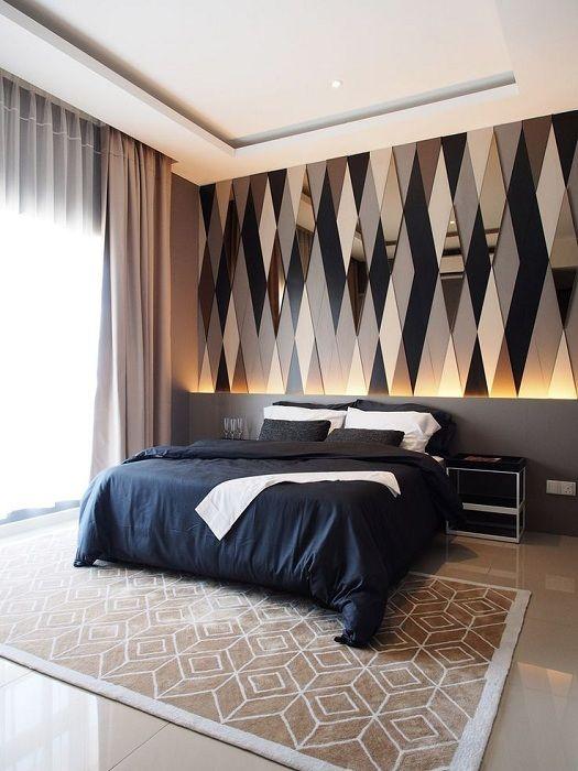 Най-доброто решение за създаване на оригинален интериор в спалнята е чрез създаване на акцентна стена.
