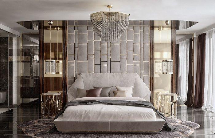 Оригиналният интериор на спалнята стана толкова благодарение на правилния дизайн на този тип стаи.