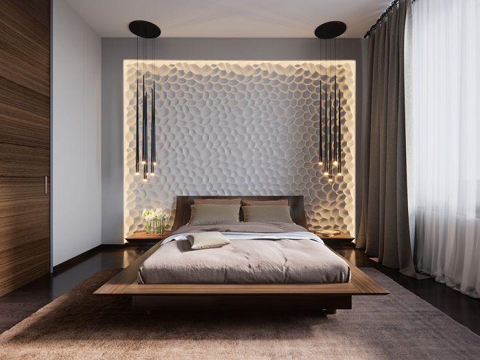 Декорът на стената като акцент на интериора.