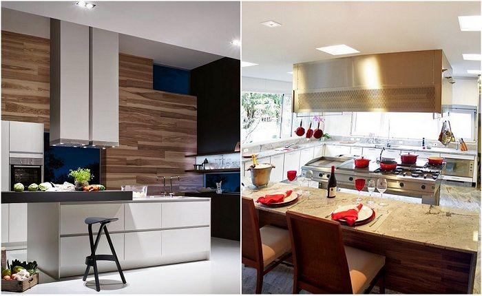 Примеры оформления кухонь в современном стиле.