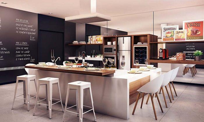 Оригинальные стулья станут отличным решением для современного кухонного интерьера.