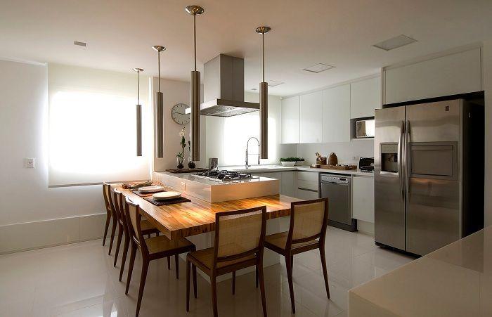 Лучший пример простого декорирования кухни в современном стиле.