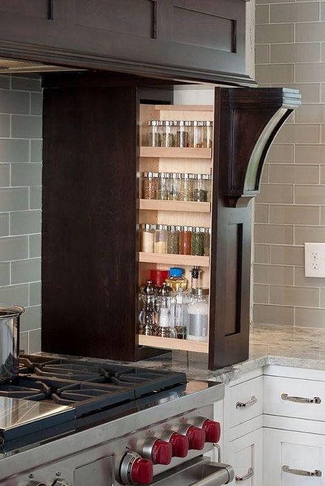 Удобное и эргономичное хранение кухонных мелочей.