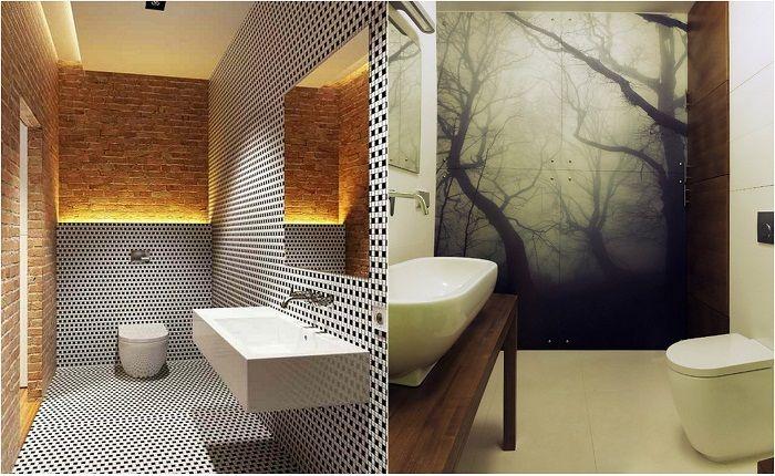 Примеры оформления современных ванн комнат.