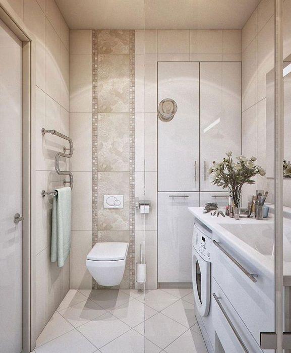 Отменный вариант правильно обустроить ванную комнату с современными дизайнерскими решениями.