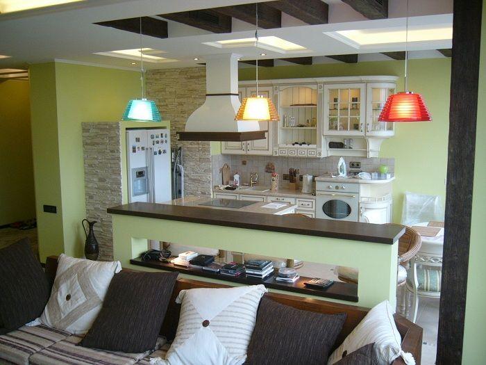 Хорошенький вариант преобразить интерьер кухни с помощью создания комфортной обстановки в оливковых тонах, что понравится.