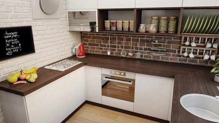 Отличное дизайнерское решение обустроить кухню в коричневых тонах.