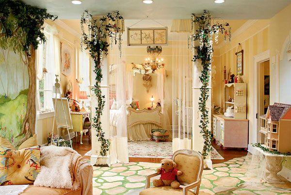 3spyaschaya_krasaviza1 10 kolorowych pomysłów na tematyczny pokój dla dwóch dziewczynek