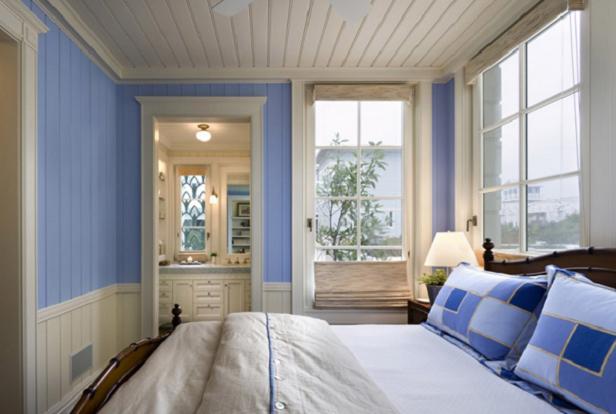 Как оформить мужскую спальню в морском стиле