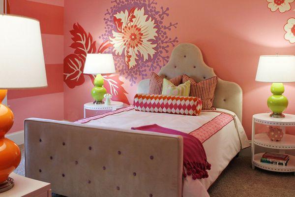 6zvetochnaya_strana1 10 kolorowych pomysłów na tematyczny pokój dla dwóch dziewczynek